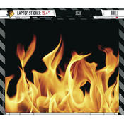 Laptop Sticker Fire 15,4 Zoll