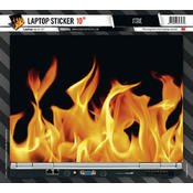 Laptop Sticker Fire 10 Zoll