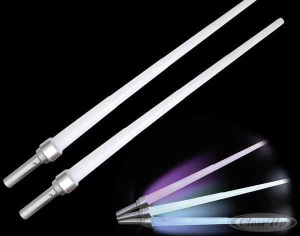 """Lichtschwert, 2er-Set leuchtend. """"Kristall FX"""" - Accessoires (Halloween/Fasch.)"""