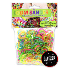 Loom Bands Set, Glitter mix