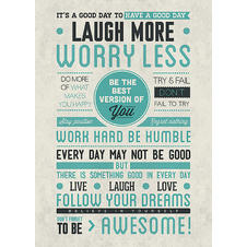 Laugh More Worry Less Poster