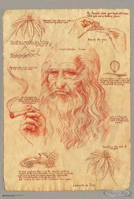 Leonardo Smoking Pot Poster