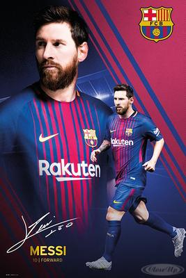 Lionel Messi Poster Collage FC Barcelona Saison...