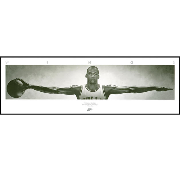 Michael Jordan Wings - framed