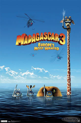 Madagascar 3 Poster Europe&acute;s Most Wanted