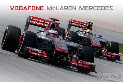 Mclaren Mercedes Poster Vodafone