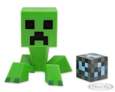 Minecraft Figur Creeper mit Diamantenblock