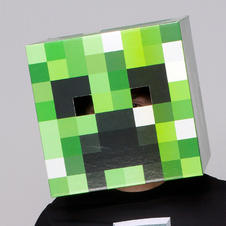 Minecraft Maske Creeper Kopf
