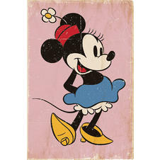 Minnie Mouse Poster Retro Pink