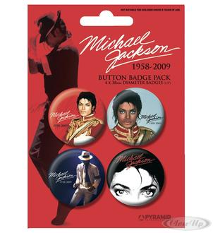 Michael Jackson Button Set