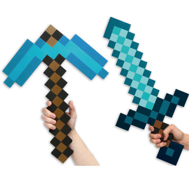 Minecraft Set Schwert & Spitzhacke Diamond Edition