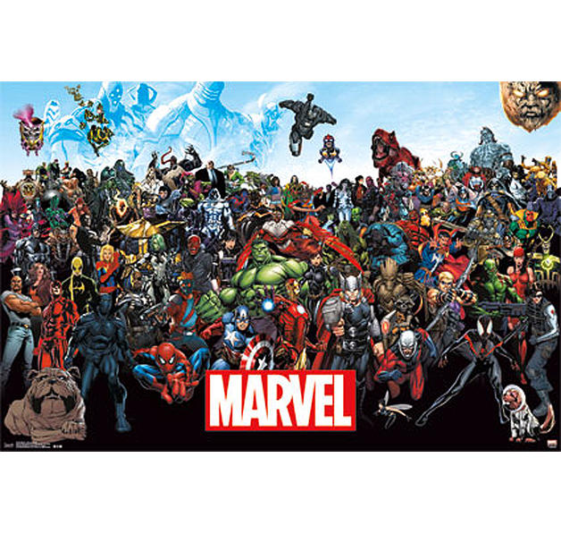 marvel poster line up 15 poster gro format jetzt im shop bestellen close up gmbh. Black Bedroom Furniture Sets. Home Design Ideas