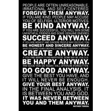 Mother Teresa  Poster Quotes