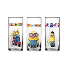 Minions 3pcs Glass set