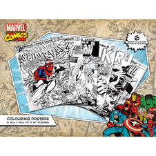 "Marvel Comics ""Retro"" Colouring Poster (6 pieces)"
