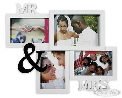 MR. & MRS. Bilderrahmen Fotorahmen Hochzeit
