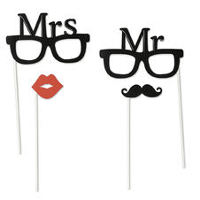 Mr. &  Mrs.  Party Set 4 tlg.