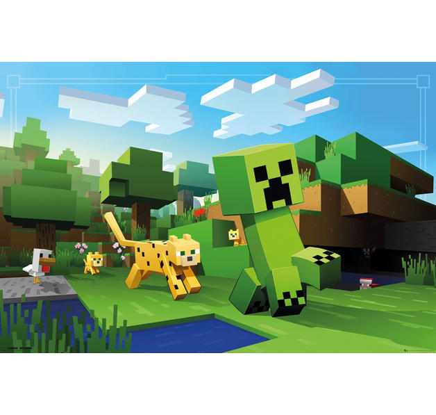 Minecraft Poster - Ocelot Chase