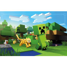 Minecraft Poster Ocelot Chase