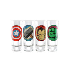 Marvel 4-pc Shot Glass Set -