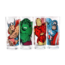 Marvel 4-pc Glass set - Characters