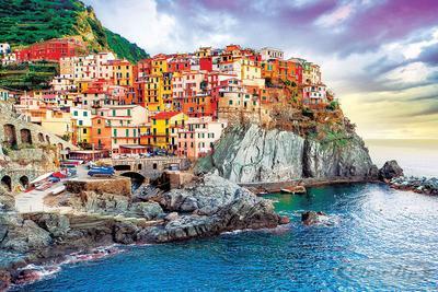 Manarola Poster Italien Mittelmeer (Cinque Terre)