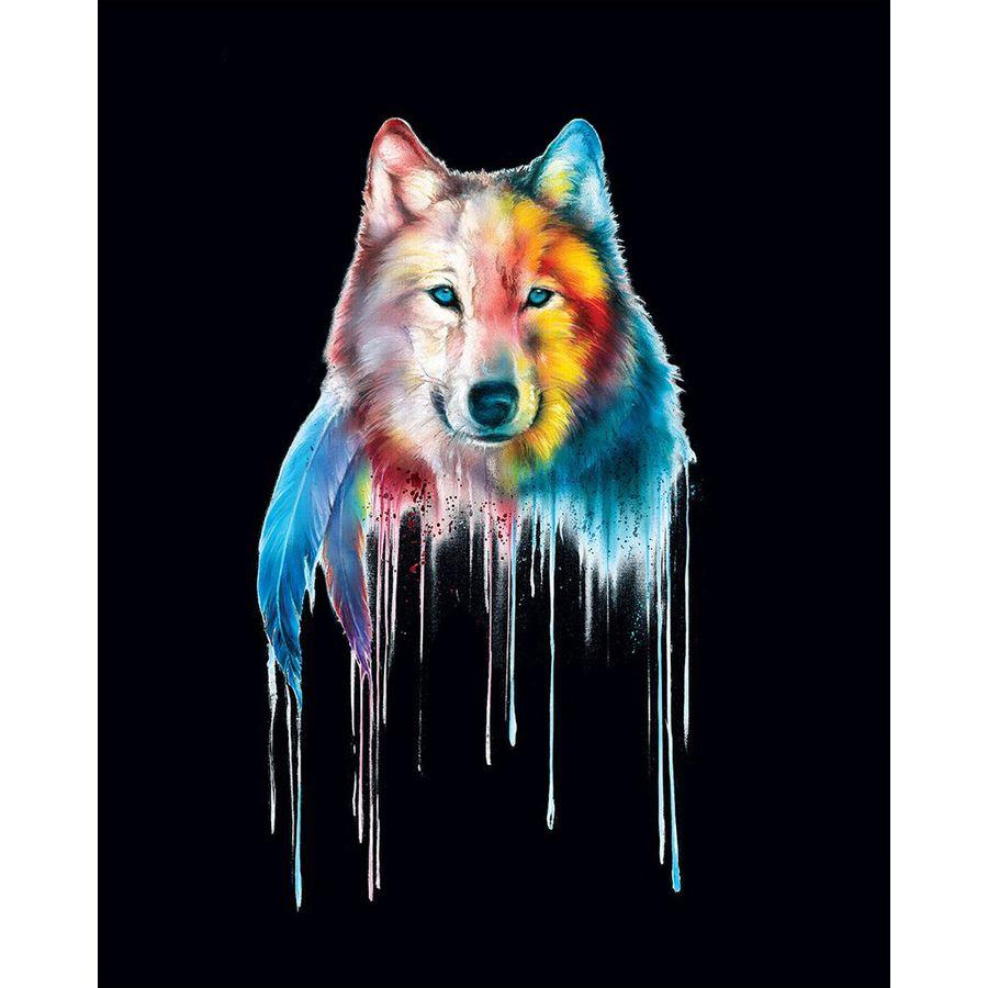 mystical wolf poster wasserfarben poster kleinformat jetzt im shop bestellen close up gmbh. Black Bedroom Furniture Sets. Home Design Ideas