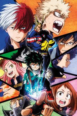 My Hero Academia Poster Charaktere