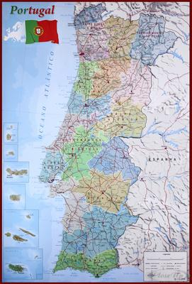 Mapa de Portugal Poster Karte von Portugal