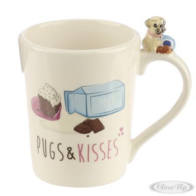 Mops Tasse Pugs & Kisses