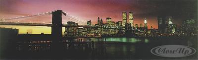 New York Poster Brooklyn Bridge im Sonnenuntergang
