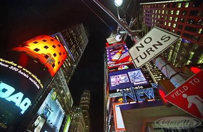 No Turns Poster NY time Square Thilo Bayer | Dekoration