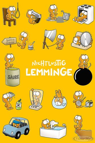 Nicht Lustig Poster Lemminge
