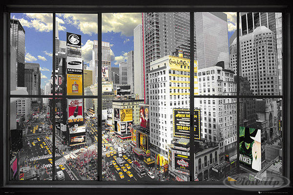 New York Poster Window Skyline