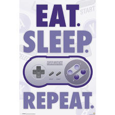 Nintendo Poster Eat, Sleep,