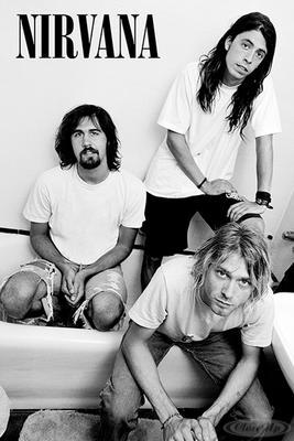 Nirvana Poster Bathroom