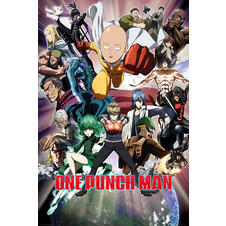 One Punch Man Poster Collage