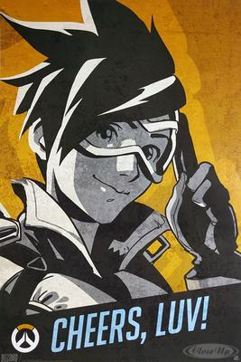 Overwatch Poster Tracer Cheers, Luv | Dekoration > Bilder und Rahmen > Poster