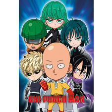 One Punch Man Poster Chibi
