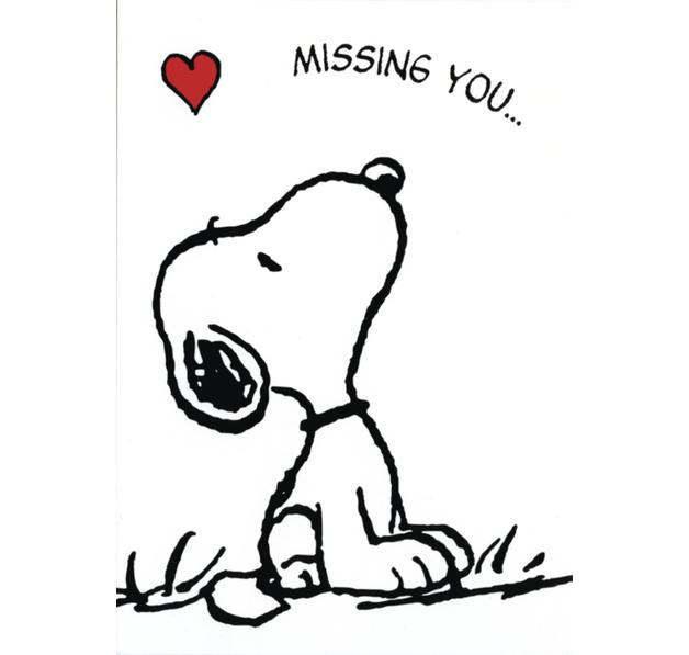 Peanuts Postkarte Snoopy Missing You Artnr P830080 0 Jetzt Artikel