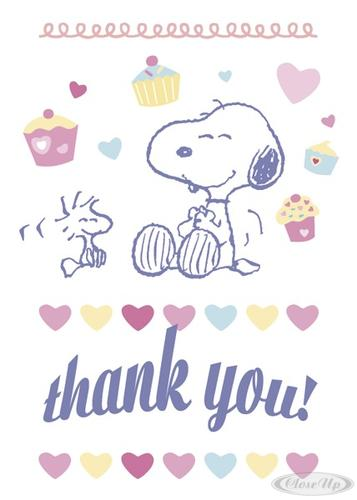 Peanuts Postkarte Thank You! (Snoopy & Woodstock) - Postcards buy now ...