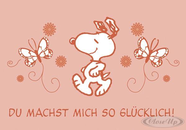 Peanuts Postkarte Du Machst mich So Glücklich! (Snoopy