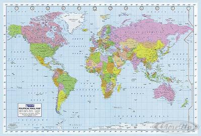 Politische Weltkarte Poster ...