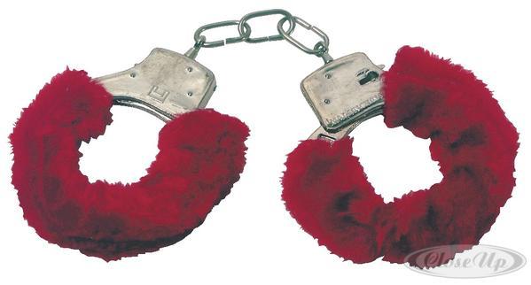 Plüschhandschellen Rot - Scherzartikel