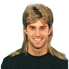 "Wig Mullet ""Business in the front, party in the back"" 80s style"