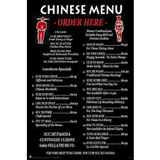 Chinarestaurant Speisekarte