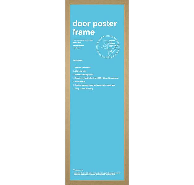 poster rahmen 53 x 158cm holzdekor eiche posterrahmen jetzt im shop bestellen close up gmbh. Black Bedroom Furniture Sets. Home Design Ideas
