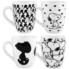 Peanuts Black and White Tassen
