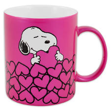 "Peanuts ""Snoopy with hearts"" mug"