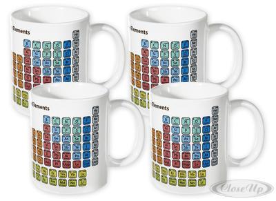 Periodensystem der Elemente 4-er Tassenset